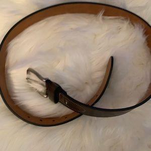 Tommy Hilfiger brown leather men's belt